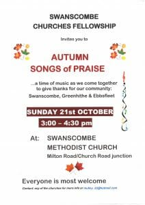 Swanscombe Fellowship Churches - Autumn Songs of Praise @ Swanscombe Methodist Church | England | United Kingdom