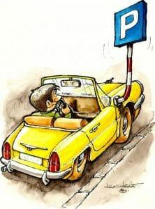Car Park Cartoon