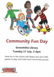 Community Fun Day for Children - Greenhithe Library - Tuesday 17 July 2018 - 2pm - 4pm @ Greenhithe Library  | Greenhithe | England | United Kingdom