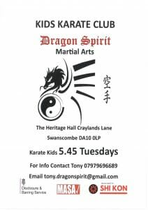Dragon Spirit Martial Arts - Kids Karate Club. @ Heritage Community Hall | United Kingdom