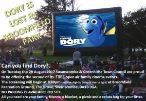 Finding Dory at Broomfield Recreation Ground - Open Air Cinema Event @ Broomfield Recreation Ground | England | United Kingdom