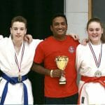 North Kent Martial Arts, people with trophy
