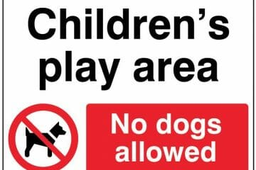 No dogs allowed in children's play area - June 2016