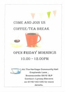 Free Open Coffee / Tea Morning every Friday @ The Heritage Community Hall | England | United Kingdom