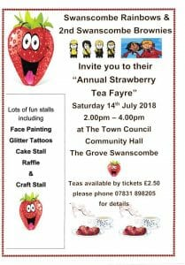Swanscombe Rainbows & 2nd Swanscombe Brownies - Annual Strawberry Tea Fayre @ The Town Council Community Hall | England | United Kingdom