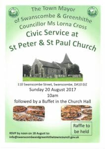 Town Mayor of Swanscombe & Greenhithe - Civic Service at St Peter & St Paul Church @ St Peter & St Paul Church  | England | United Kingdom