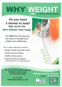 Why Weight Management Sessions @ Town Council Offices Community Hall | Swanscombe | United Kingdom