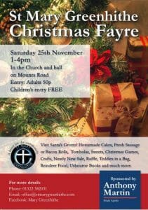 St Mary's Greenhithe Christmas Fayre @ St Mary's Church and Church Hall | Dartford | England | United Kingdom