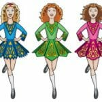 Grove Irish dancers, animated dancer girls