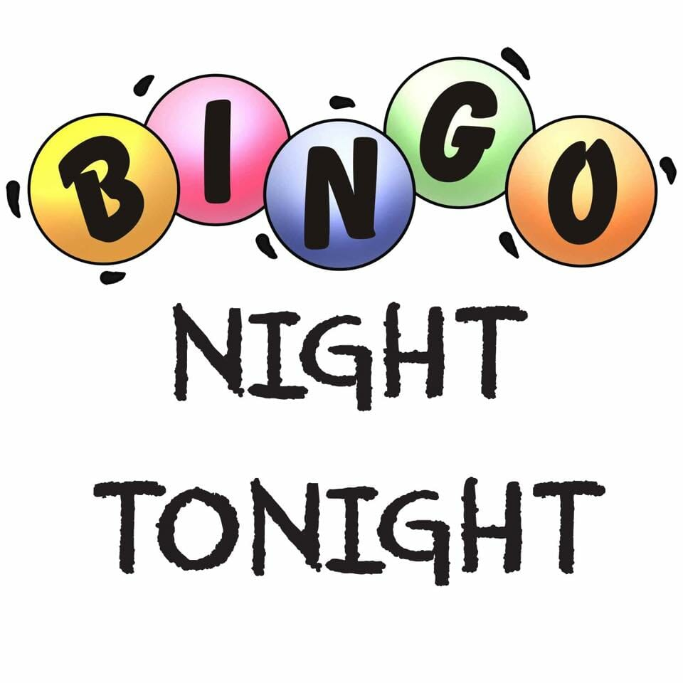 Bingo Night Tonight sign