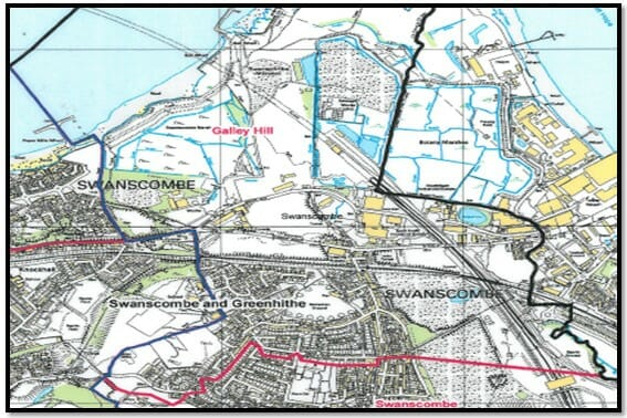 Galley Hill Ward Map