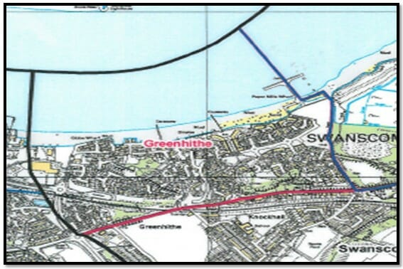 Greenhithe Ward Map
