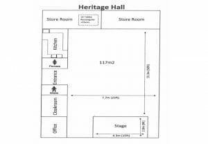 Heritage Hall Area Specification Map