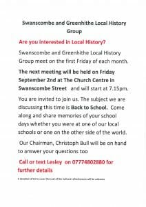 S&G Local History Group Meeting. @ The Church Centre | Swanscombe | England | United Kingdom