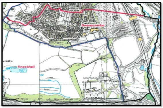 Swanscombe Ward Map