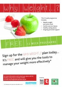 Why Weight - Healthy Living - 12 Week Programme @ Town Council Offices Community Hall | England | United Kingdom