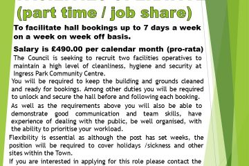 Facilities Operative Job Advert