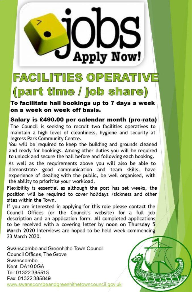 Facilities Operative Job Advert