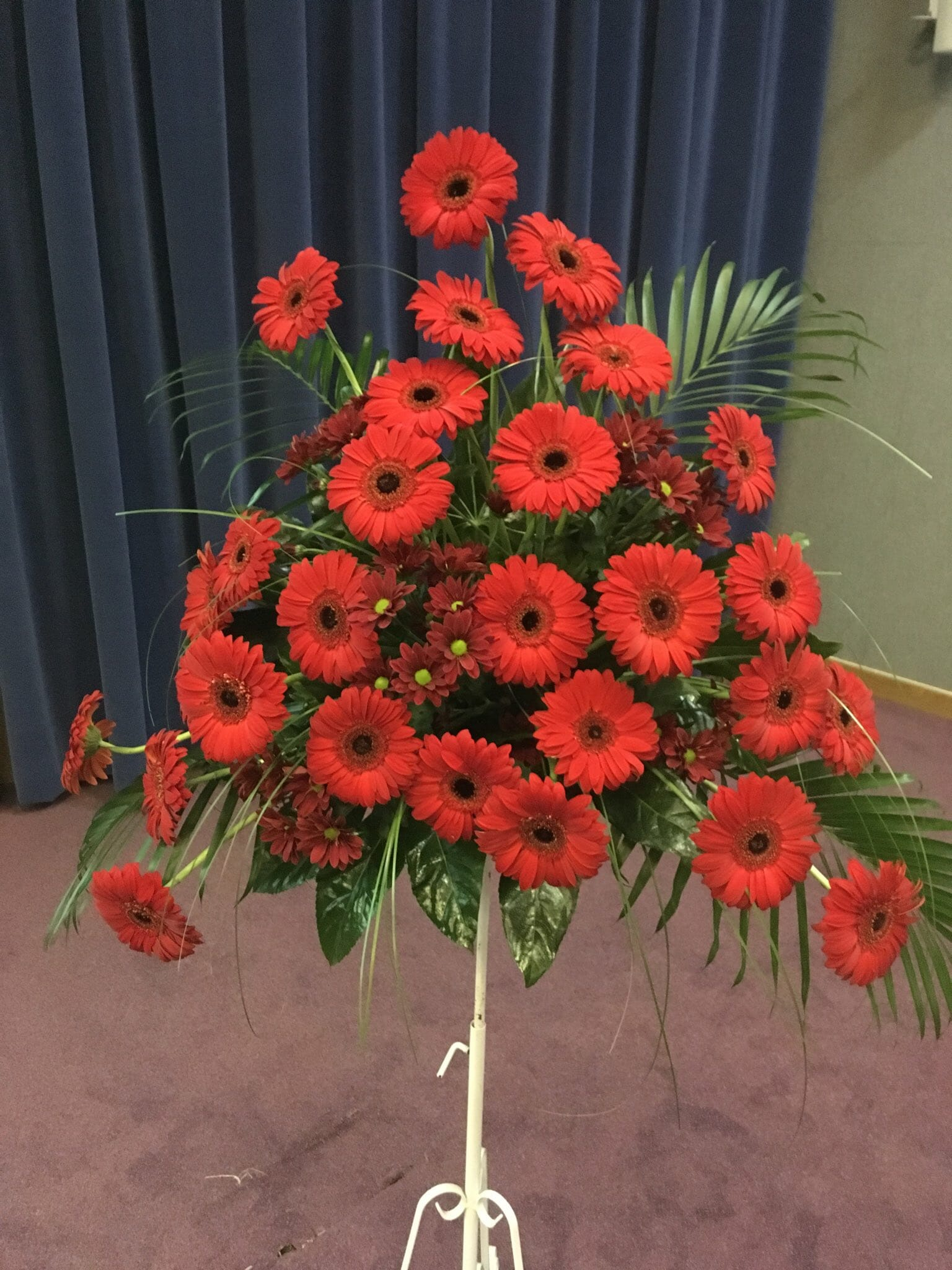 Poppies on a stand