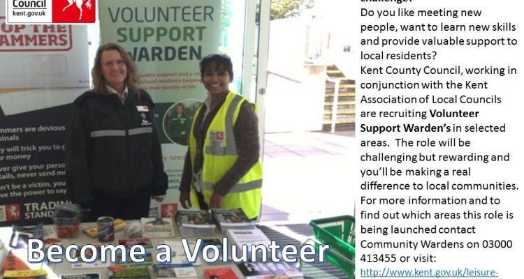 Volunteer KCC ommunity Warden Poster