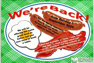Poster for Reopening the Community Cafe