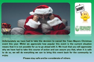 Town Mayors Christmas Event cancelled - 2020