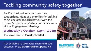 Tackling Community Safety Together - Virtual Engagement Meeting