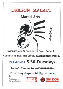 CANCELLED -Dragons Spirit - Kids Karate @ S & G Town Council Offices Community Hall