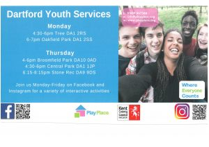 CANCELLED - Dartford Youth Services in Swanscombe @ Broomfield Park