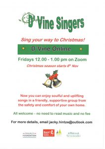 D'Vine Singers - Online for Christmas @ Online by Zoom
