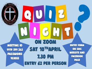 St Mary's Church - Quiz Night @ Via Zoom