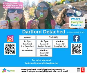 Dartford Detached Youth Services in Swanscombe @ Broomfield Recreation Ground