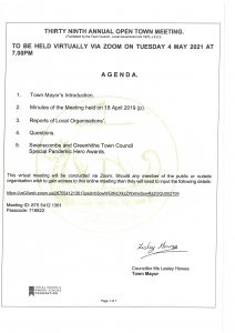 39th Annual Open Town Meeting