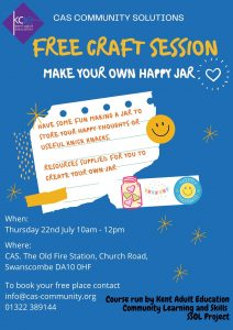 Free Craft Session - Make your own Happy Jar @ CAS Community Solutions