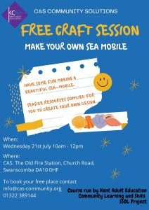 Free Craft Session - Make your own Sea Mobile @ CAS Community Solutions