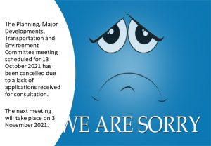 Cancelled Meeting - 13 October 2021. @ Town Council Chamber
