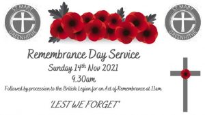 Remembrance Day Service - St Mary's Church @ St Mary's Church