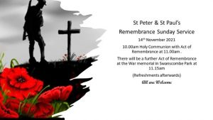 Remembrance Day Service - St Peter & St Paul's Church @ St Peter & St Paul's Church